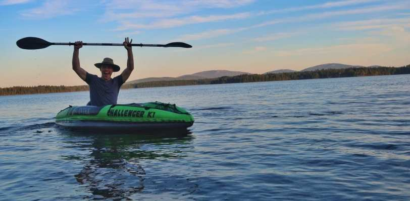 heath kayaking in maine