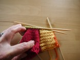 Work along the instep stitches.