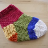 Sock in multicolours one per section.