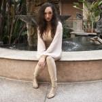 Fashion Designer Heather Spears Tan Suede Jumpsuit