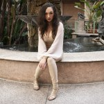 Fashion Designer Heather Spears Tan Suede Jumpsuit