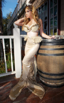 Sarah Spears Golden Mermaid Costume custom made by Heather Spears