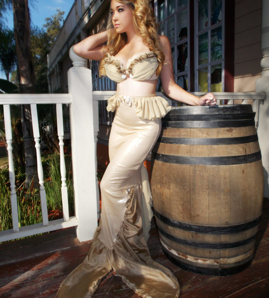 Sarah Spears Golden Mermaid Costume custom made by Heather Spears