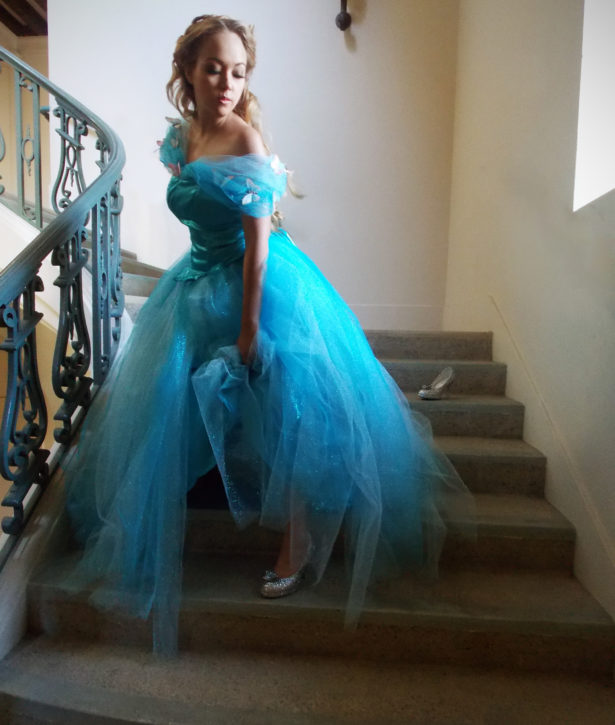Cinderella Dress Hand-Mad by Designer Heather Spears Modeled by Sarah Spears