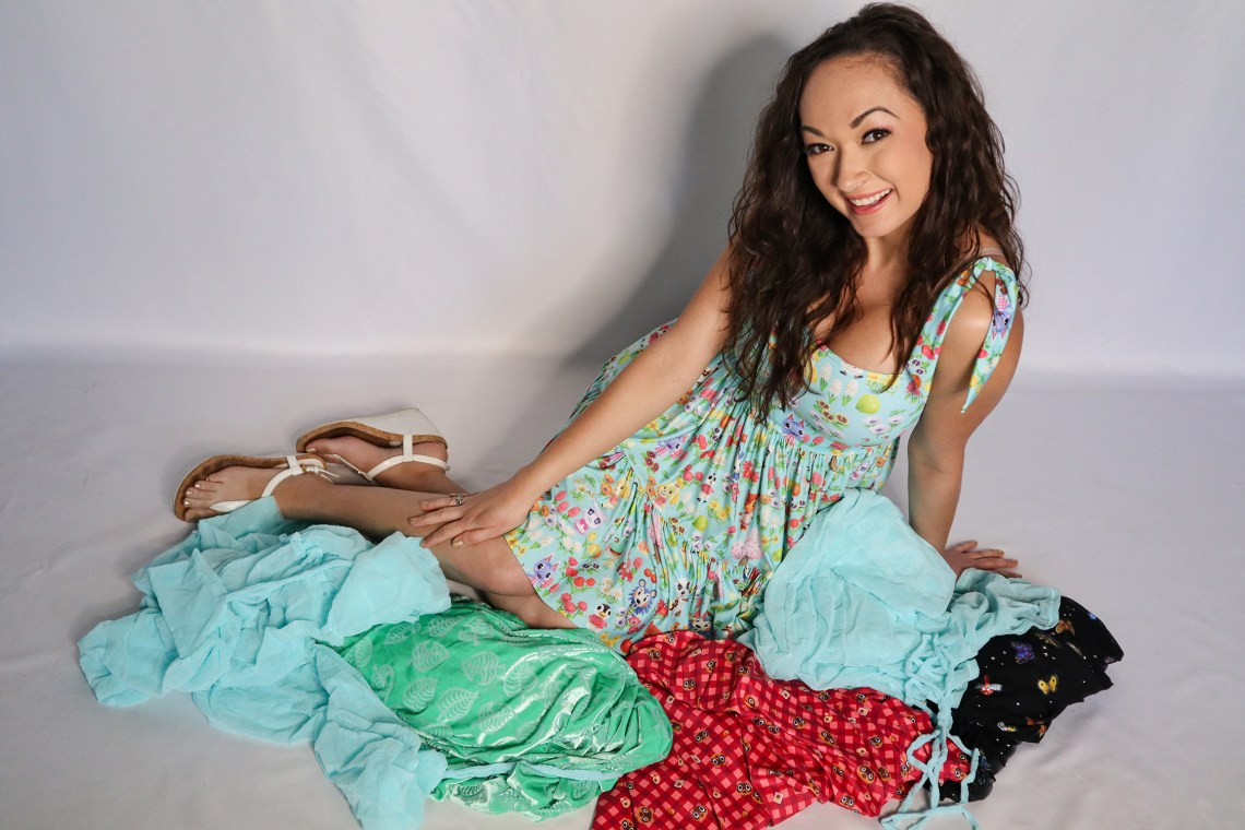 Heather Spears Surrounded by Animal Crossing Clothes from BlackMilk