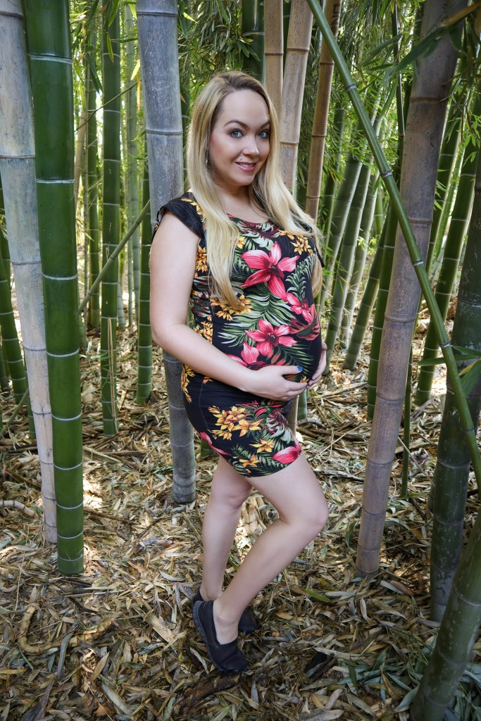How to make Easiest DIY Maternity Dress Ever by Heather Spears Sarah in Finished Dress