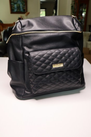 Luli Bebe diaper bag black Monaco Style