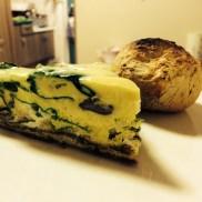 Greens and Oyster Mushroom Frittata