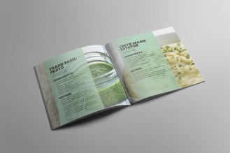 Branding and print project for a DIY herb kit: university project.