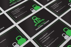 Logo and business card design for local business owner.