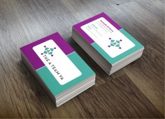 Logo and business card design for local business.