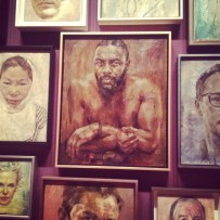 Because it's not a slideshow if there isn't sexy Idris Elba involved. This is from an exhibit at the National Gallery, where we popped by to see the portrait of William and Harry (delightful) and the more questionable one of Kate, which was (surely temporarily) NOWHERE TO BE SEEN.