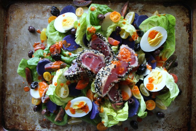 Nicoise Salad With Sesame Seared Tuna