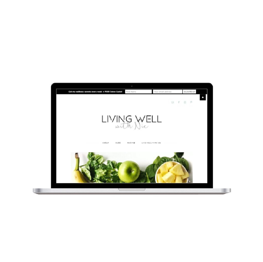 Living Well With Nic Website design by HEather Dauphiny Creative