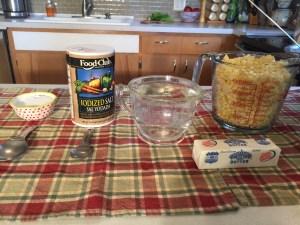 items used in sweet corn