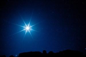 Star at Christmas time