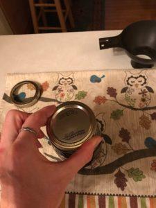 tightening ring on a jar
