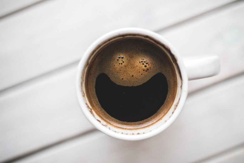 Drink a cup of coffee to stay focused