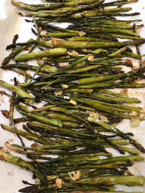 finished baked asparagus #heatherearles #herbnwisdom #naturalliving #asparagus #dinnerrecipes #author #podcaster #gardenfood