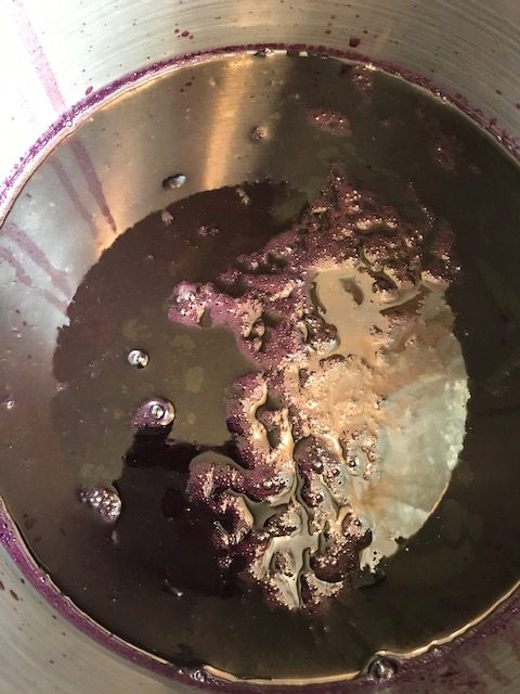heating the grape juice