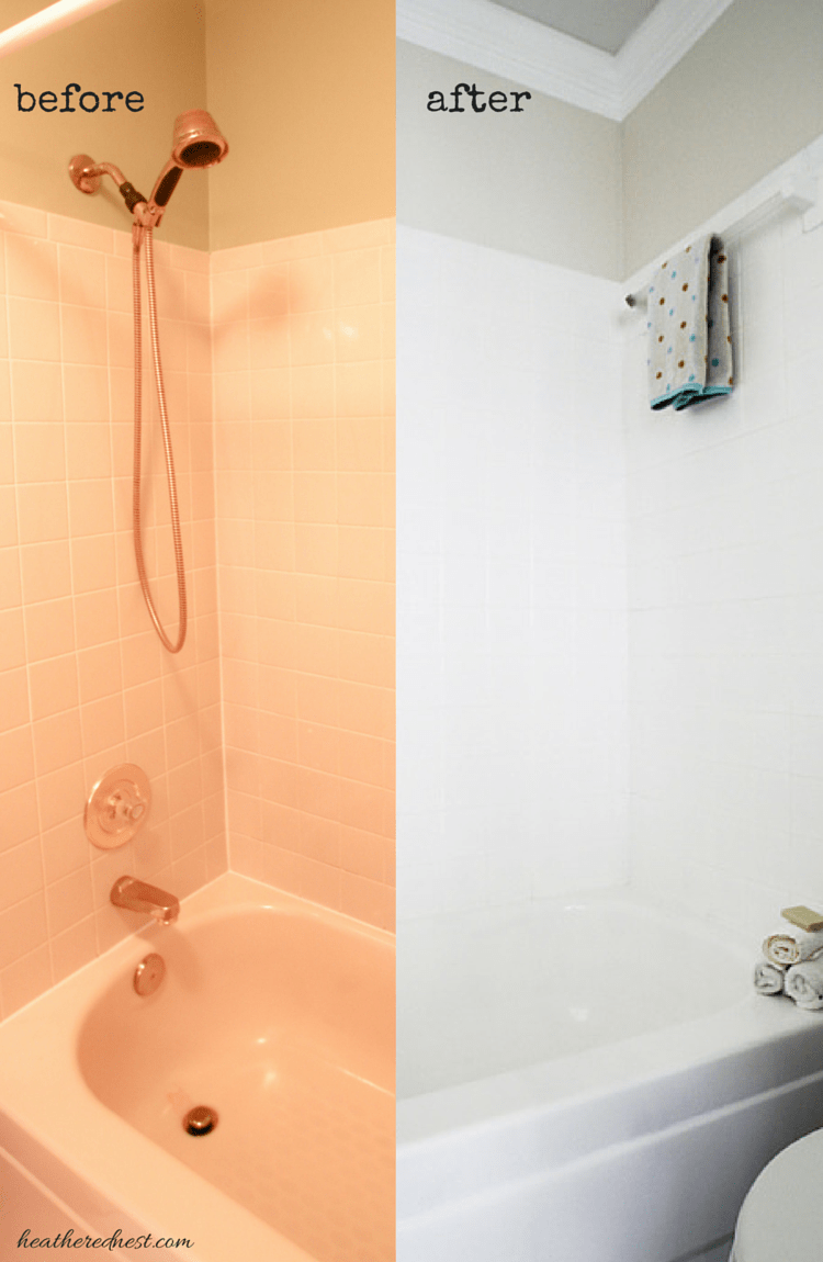 Can You Paint Tile How We Brightened Our Bathtub On A