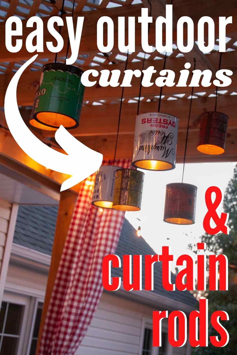 easy diy curtains and diy curtain rods