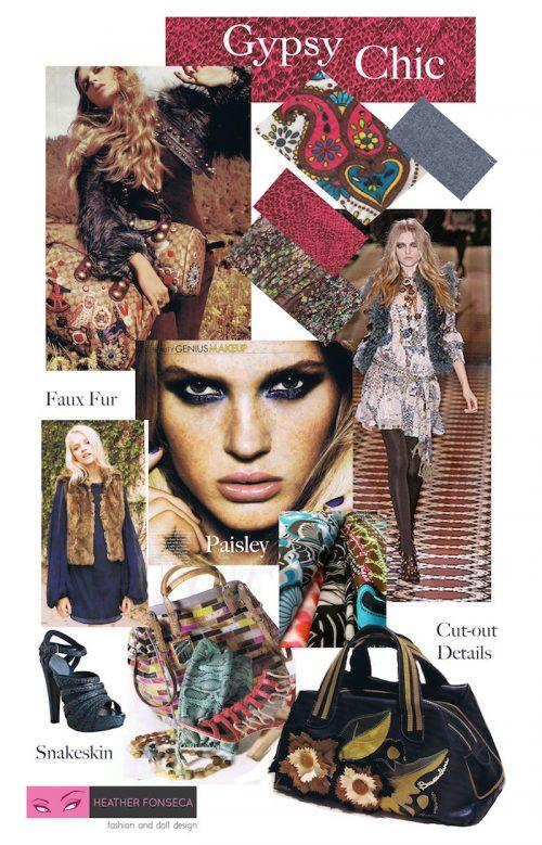 Gypsy Chic Mood Board by Heather Fonseca