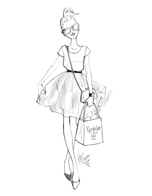 Fashion Sketches - The Tulle Skirt