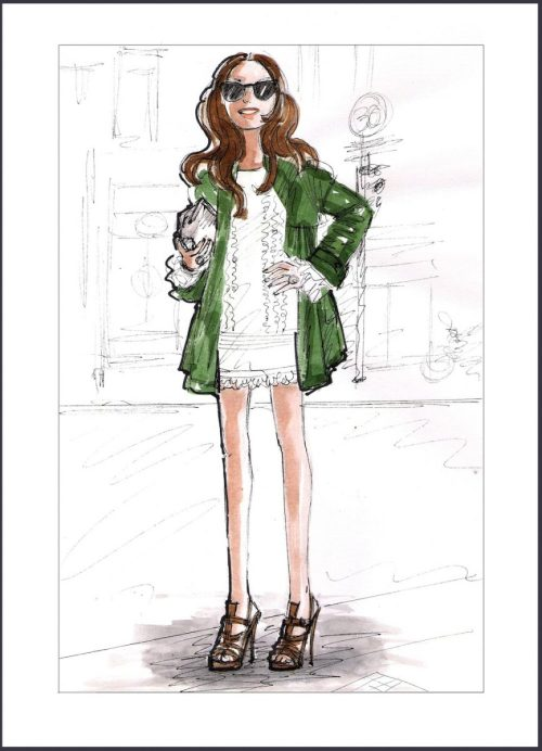 Fashion Illustration inspired by The Sartorialist