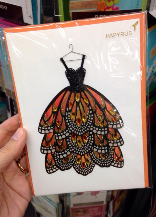 Butterfly gown on a Papyrus Greeting Card
