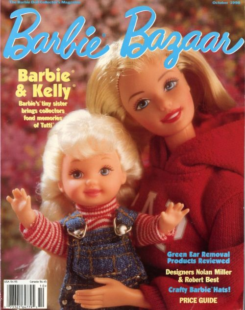 Barbie and Kelly on the Cover of Barbie Bazaar