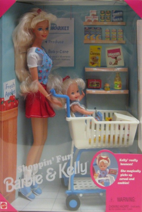 Barbie and kelly shopping fun
