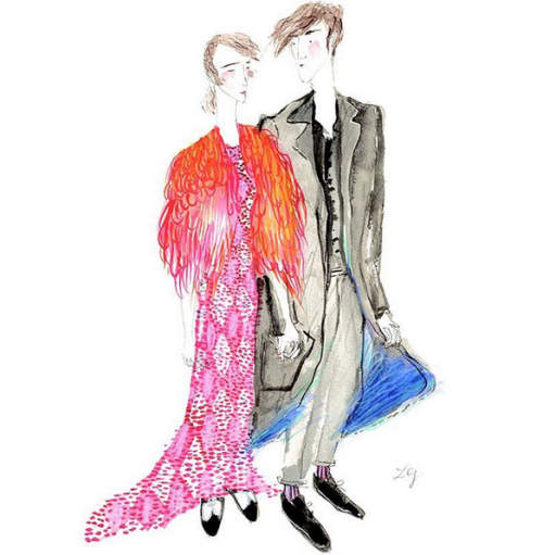 Leo Greenfield: Fashion Illustrations on Instagram