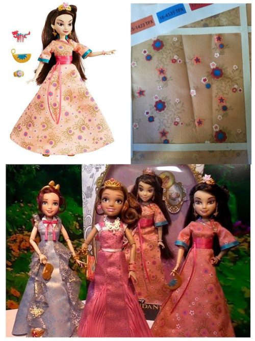 Doll design: Textile Design by Nina May for a Disney Descendants Doll