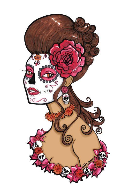 Glamorous Sugar Skull Girl