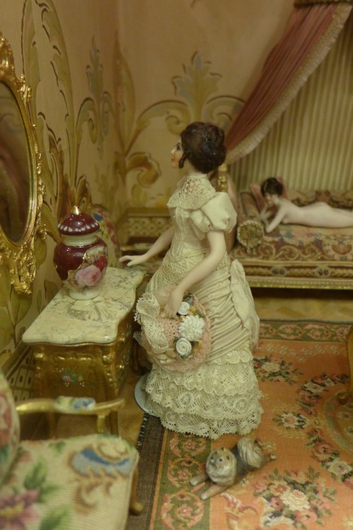 Antique Dolls in their boudoir at Angel's Attic Museum