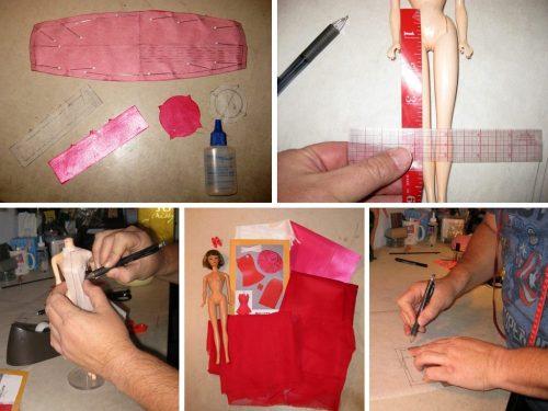 Drafting vintage Barbie doll patterns