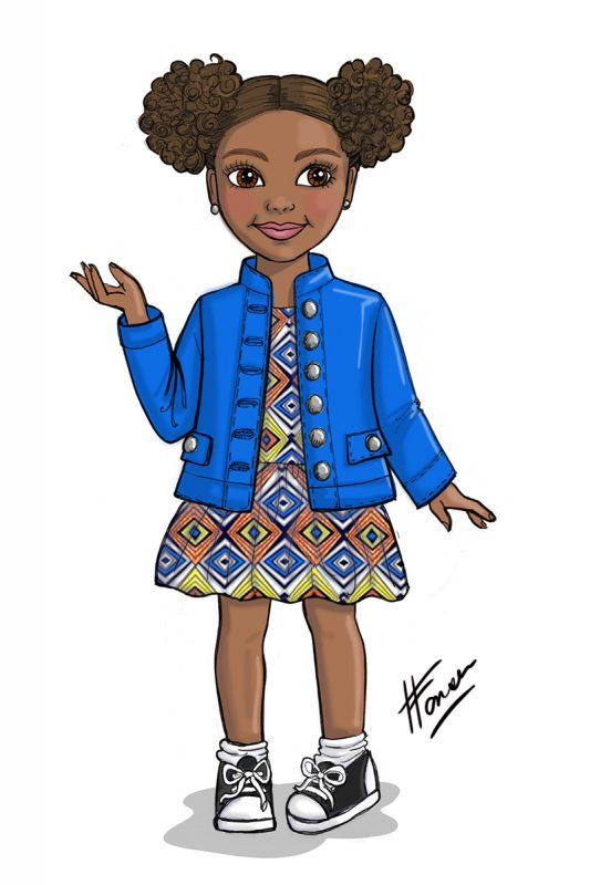Bee You African-American Doll Design