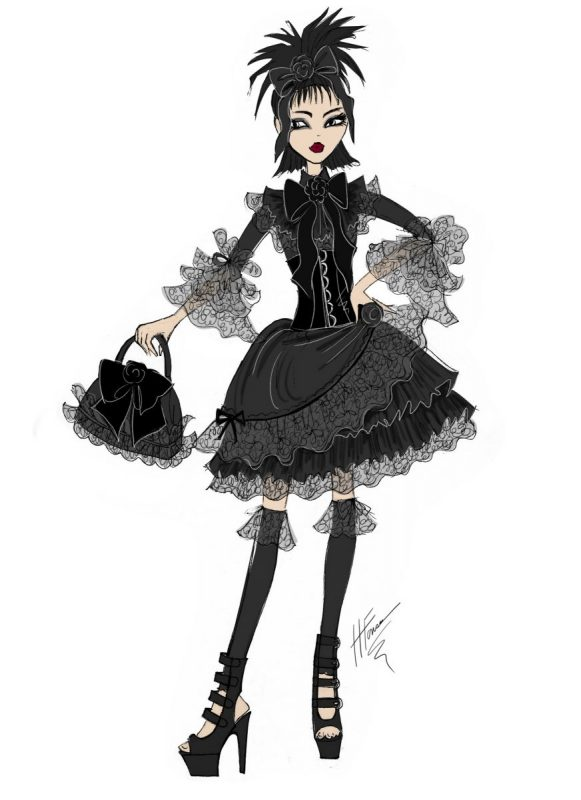 Goth Doll Design by Heather Fonseca
