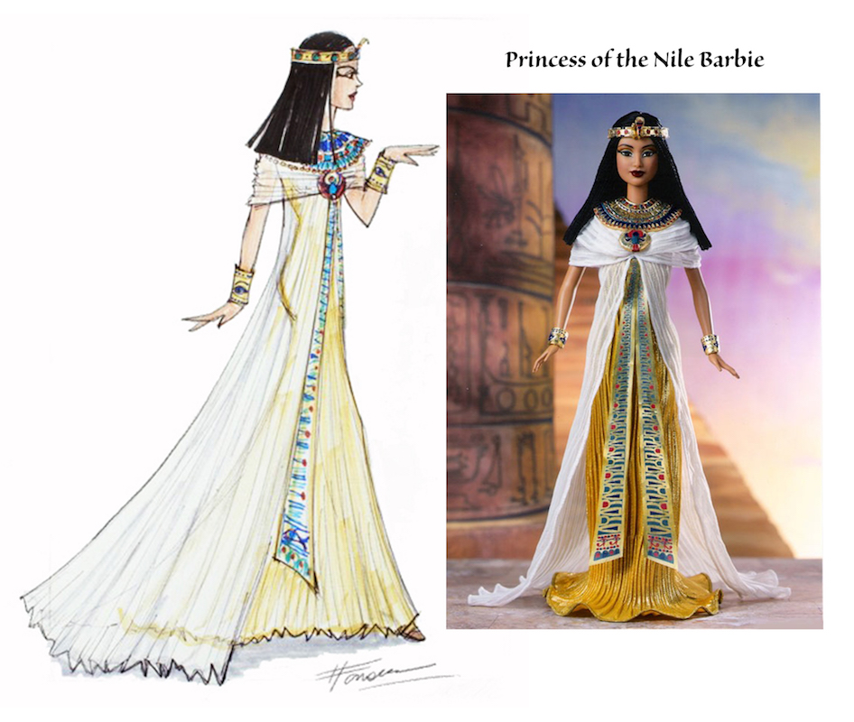 Princess of the Nile Barbie Illustration and doll by Heather Fonseca