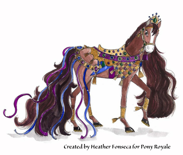 "Pony Royale invention design of ""Queenie"" by Heather Fonseca"