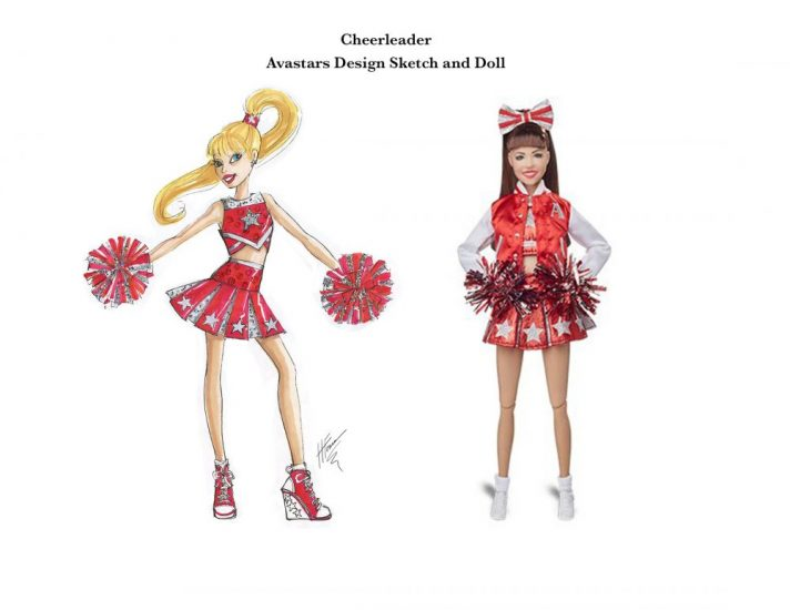 Avastars Cheerleader Doll Design