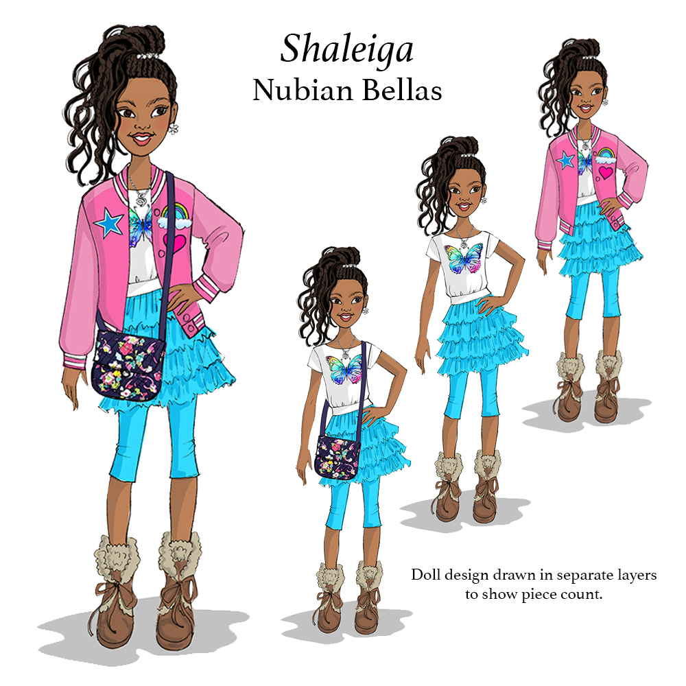 Shaleiga doll illustration for Nubian Bellas