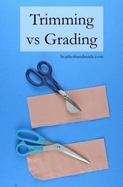 How to Grade Seams: Trimming vs Grading // heatherhandmade.com