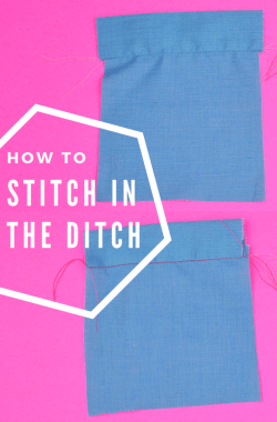 How to Stitch in the Ditch // heatherhandmade.com