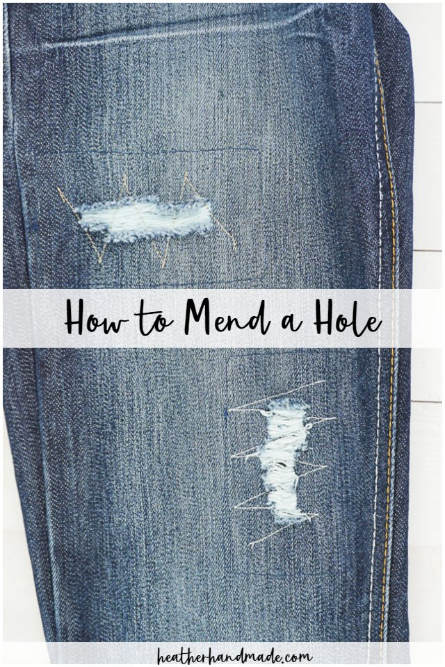 mend a hole without mending