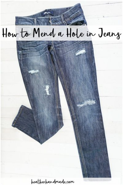 how to mend a hole in jeans