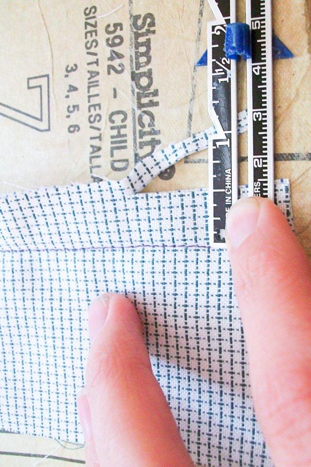 cut seam to 1/2 inch
