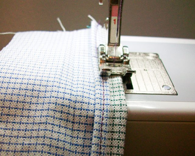 sew other fold in place