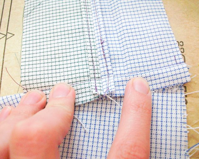 sew to another seam